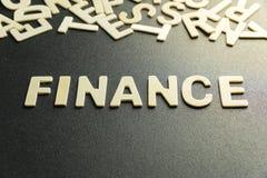 Finansowy słowo obrazy stock