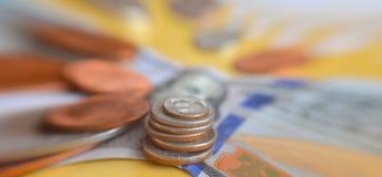 Finansowy tło z amerykańskimi dolarami Obraz Royalty Free