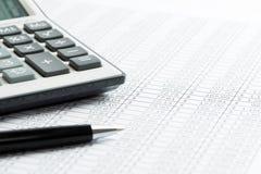 finansowy wycena raportu zapas obrazy stock
