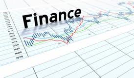 finansowy wykresu pieniądze tekst Obrazy Stock