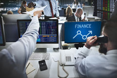 Finansowy wzrosta zysku sposobności ekonomii biznesu pojęcie Zdjęcia Royalty Free