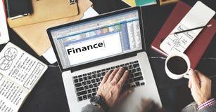 Finansredovisning som packar ihop skuldbegrepp för budget- kreditering Arkivfoto