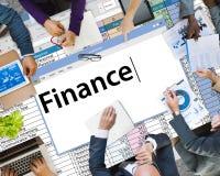Finansredovisning som packar ihop skuldbegrepp för budget- kreditering Royaltyfri Foto