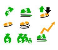 finanssymbol vektor illustrationer