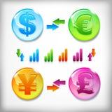 Finanssymboler Arkivbilder