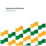 Finanstemamodell och bakgrund, garneringmall Arkivbild