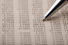 Finanz-Anführungsstriche Stockfotos