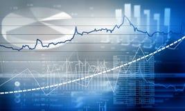 Finanz-Infographics Lizenzfreie Stockbilder
