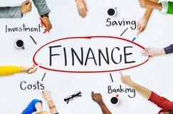 Finanz-Investitions-Bankwesen-Kosten-Konzept stockfoto