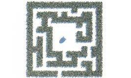 Finanz-Maze Labyrinth gemacht von usd-Banknoten Lizenzfreies Stockfoto