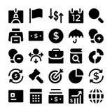 Finanz-und Geld-Vektor-Ikonen 2 Lizenzfreie Stockfotos