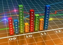 Diagramm und Diagramme Lizenzfreies Stockfoto