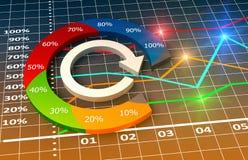Diagramm und Diagramme Stockfoto