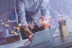 Finanz- und Marketing-Konzept Lizenzfreies Stockbild