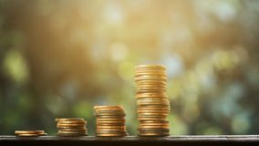 Finanza del grafico dei vecchi soldi e concetto di affari immagini stock libere da diritti