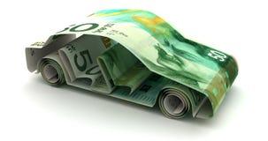 Finanza dell'automobile con il nuovo shekel israeliano illustrazione di stock