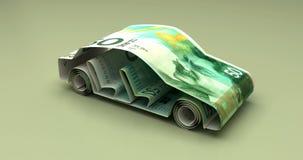 Finanza dell'automobile con il nuovo shekel israeliano illustrazione vettoriale
