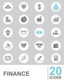 FINANZA delle icone illustrazione di stock
