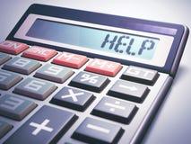 Finanza di affari di calcolo di aiuto Fotografie Stock Libere da Diritti