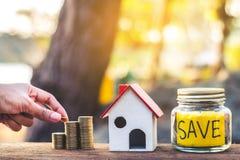 Finanza di investimento in immobili Fotografie Stock