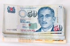 Finanza di Singapore dei soldi Fotografia Stock
