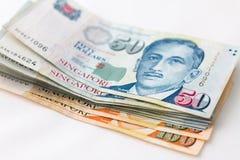 Finanza di Singapore dei soldi Immagine Stock Libera da Diritti