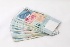 Finanza di Singapore dei soldi Fotografia Stock Libera da Diritti