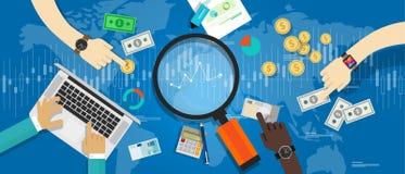 Finanza di tendenza del mercato dell'indicatore di economia Immagine Stock