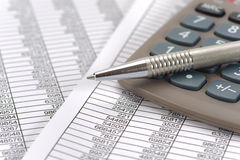 Finanza e calcolo del bilancio Fotografia Stock