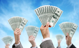 Finanza ed investimento di finanziamento della folla Fotografia Stock Libera da Diritti