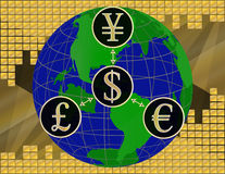 Finanza globale Immagine Stock