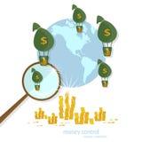 Finanza globale del settore bancario di trasferimento di transazioni Fotografie Stock