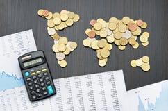 Finanza internazionale Fotografie Stock