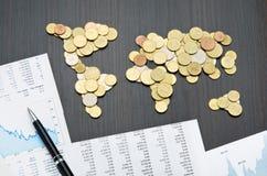 Finanza internazionale Fotografia Stock