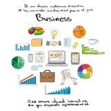 Finanza Logo Hand Draw Icon Set di affari Fotografie Stock