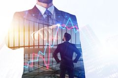 Finanza, posto di lavoro e concetto di ricerca immagini stock libere da diritti