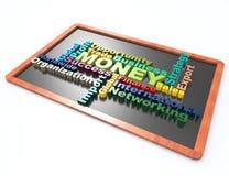 Finanza, soldi, concetto di parola dei succes illustrazione vettoriale