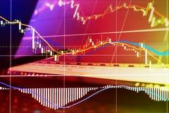 Finanza, soldi e grafici fotografie stock
