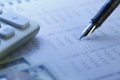 Finanzabrechnungstag - Archivbild Lizenzfreies Stockfoto