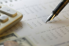 Finanzabrechnungstag - Archivbild Lizenzfreie Stockfotografie