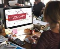 Finanzaktien-Geld-Datums-Grafik-Konzept Stockfotos