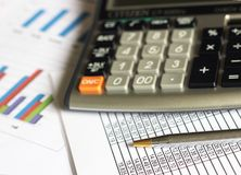 Finanzanalyse-Buchhaltung Stockbild