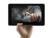 Finanzanalytiker auf digitaler Tablette Lizenzfreie Stockfotografie