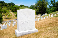 Finanzanzeigen am Arlington-nationalen Friedhof in Virginia, vereinigen Stockbilder