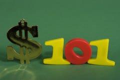 Finanzas 101 Imágenes de archivo libres de regalías