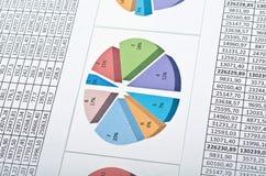 Finanzas con las cartas y los números fotografía de archivo