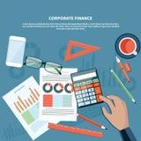 Finanzas corporativas, concepto de la gestión de negocio Fotografía de archivo libre de regalías