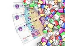 Finanzas de la atención sanitaria Imagen de archivo libre de regalías