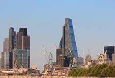 Finanzas de la construcción de la ciudad de Londres Imagen de archivo libre de regalías