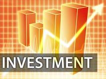 Finanzas de la inversión ilustración del vector